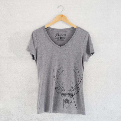 Bo the Buck - Women's Modern Fit V-neck Shirt