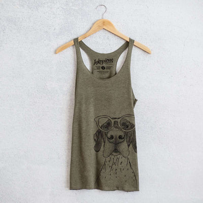 Booze the German Shorthaired Pointer - Tri-Blend Racerback Tank Top