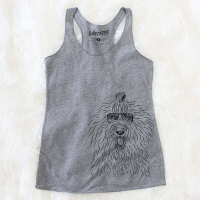Brody the Old English Sheepdog - Tri-Blend Racerback Tank Top