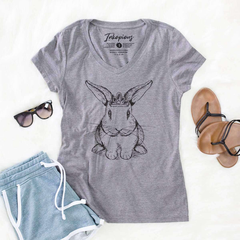 Royal Bunny - Women's Modern Fit V-neck Shirt