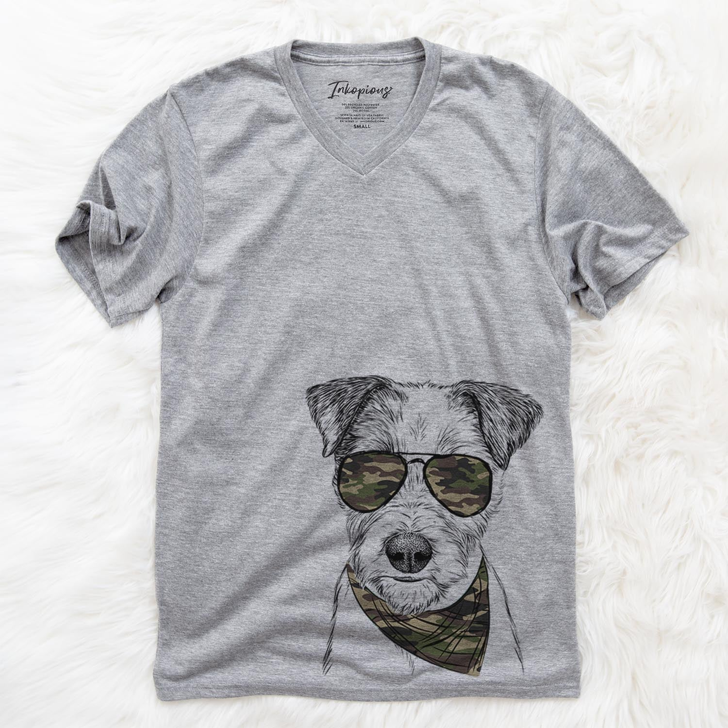 Bogart the Parsons Russell Terrier  - Camouflage Collection