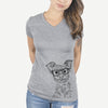 Bingo the Yorkshire Terrier - Women's Modern Fit V-neck Shirt