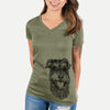 Buster the Schnoodle - Women's Modern Fit V-neck Shirt