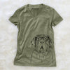 Dinah the Neapolitan Mastiff - Women's Modern Fit V-neck Shirt