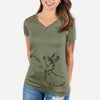 George the Dachshund - Women's Modern Fit V-neck Shirt
