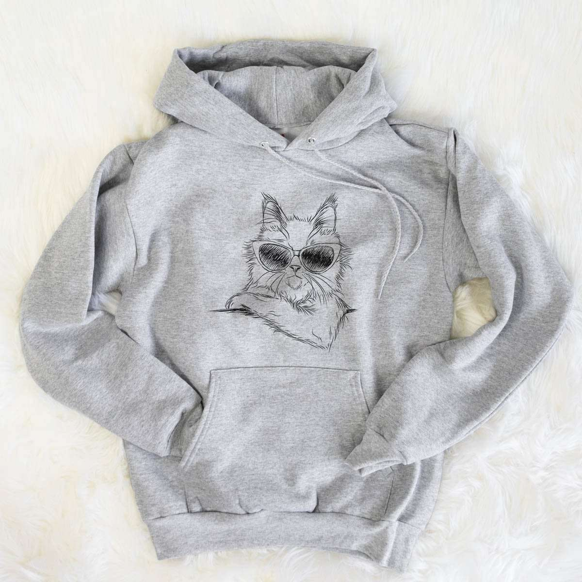 Ginger the Maine Coon Cat - Mens Hooded Sweatshirt