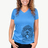 Lou the Otterhound - Women's Modern Fit V-neck Shirt