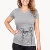 Marzi the Long Haired Chihuahua - Women's Modern Fit V-neck Shirt