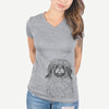 Mochi the Pekingese - Women's Modern Fit V-neck Shirt