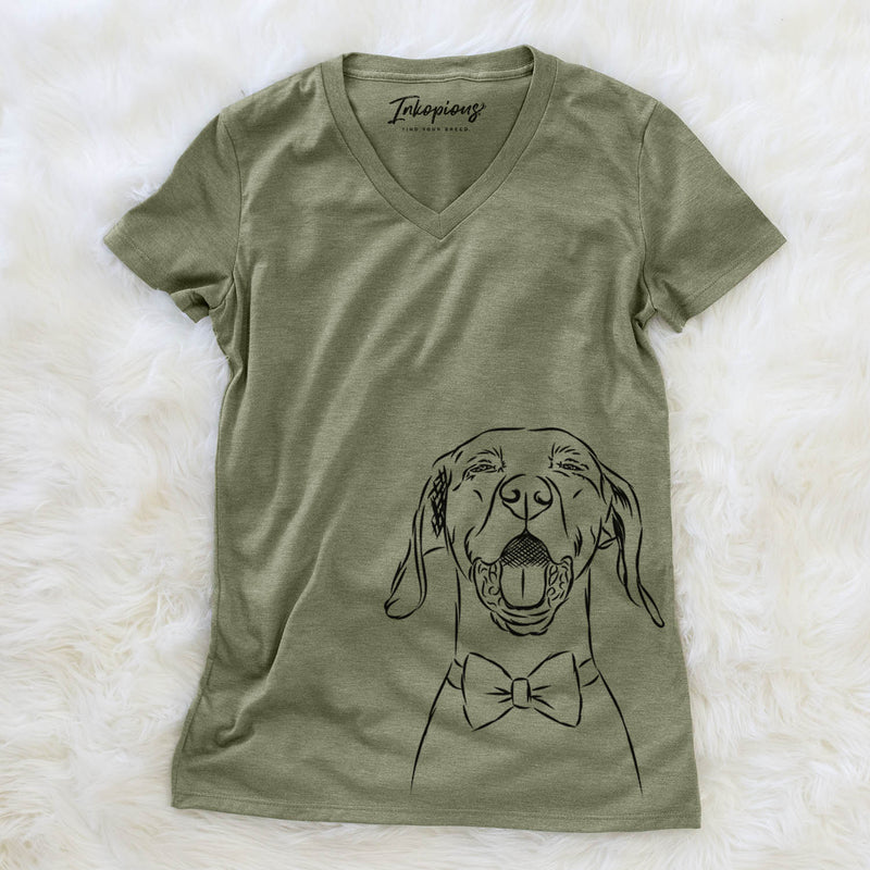 Ollie the Vizsla - Women's Modern Fit V-neck Shirt