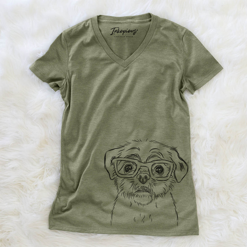 Smash the Shih Tzu - Women's Modern Fit V-neck Shirt
