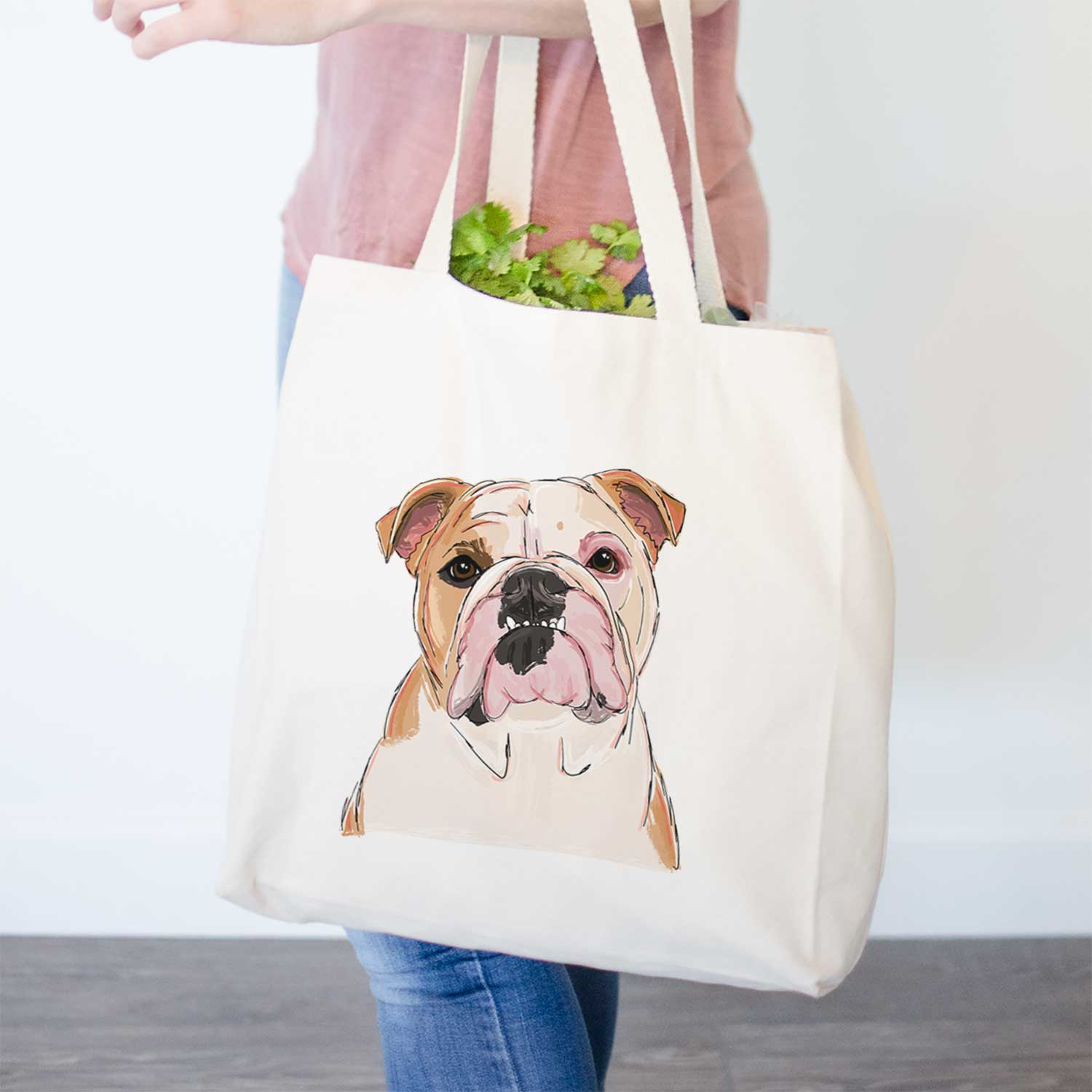 Denny the English Bulldog - Tote Bag