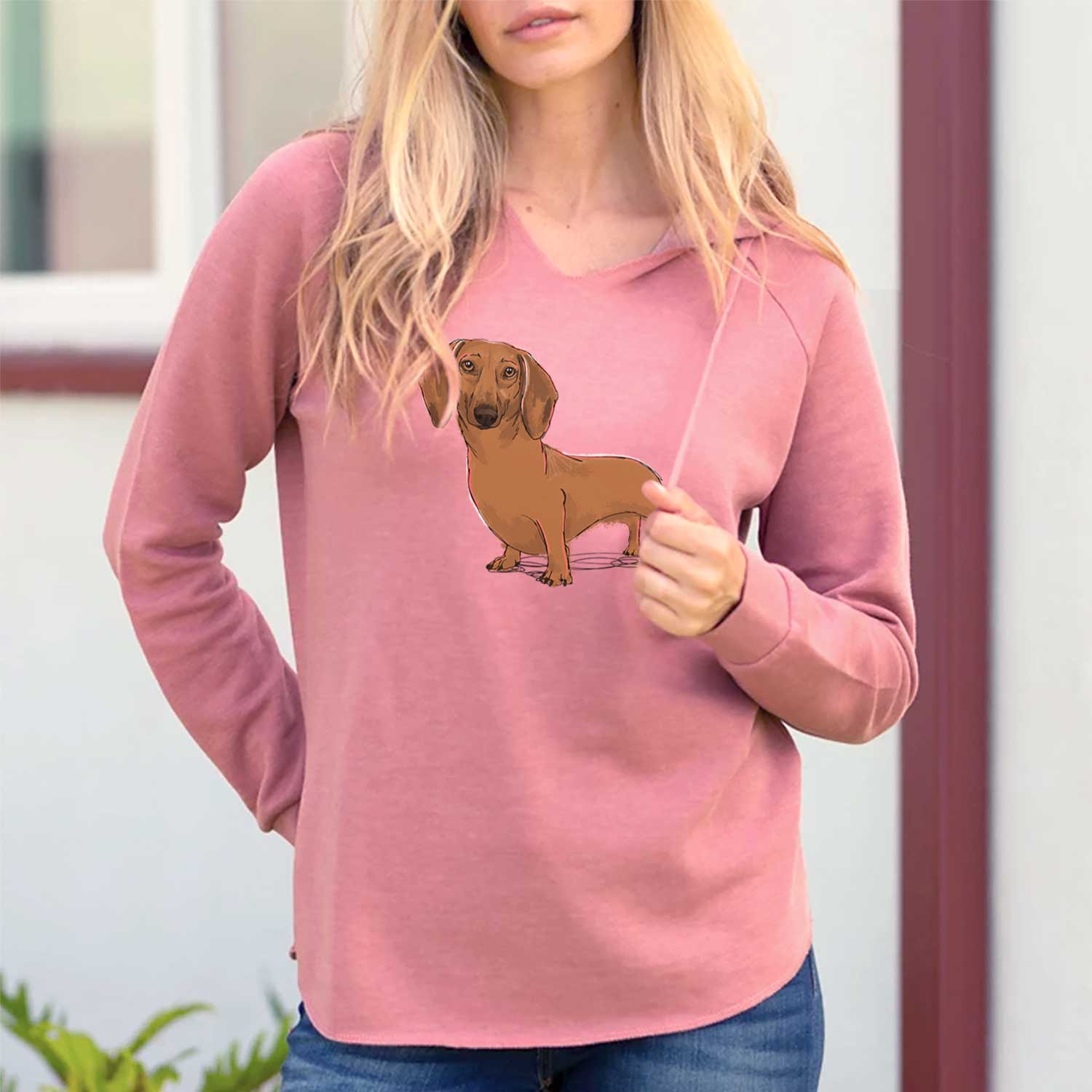 Freya the Dachshund - Cali Wave Hooded Sweatshirt