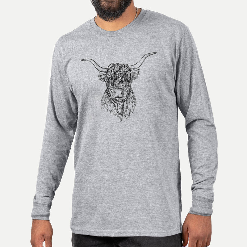 Nessi the Scottish Highlander Cow  - Long Sleeve Crewneck