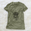 Nessi the Scottish Highlander Cow  - Women's Modern Fit V-neck Shirt