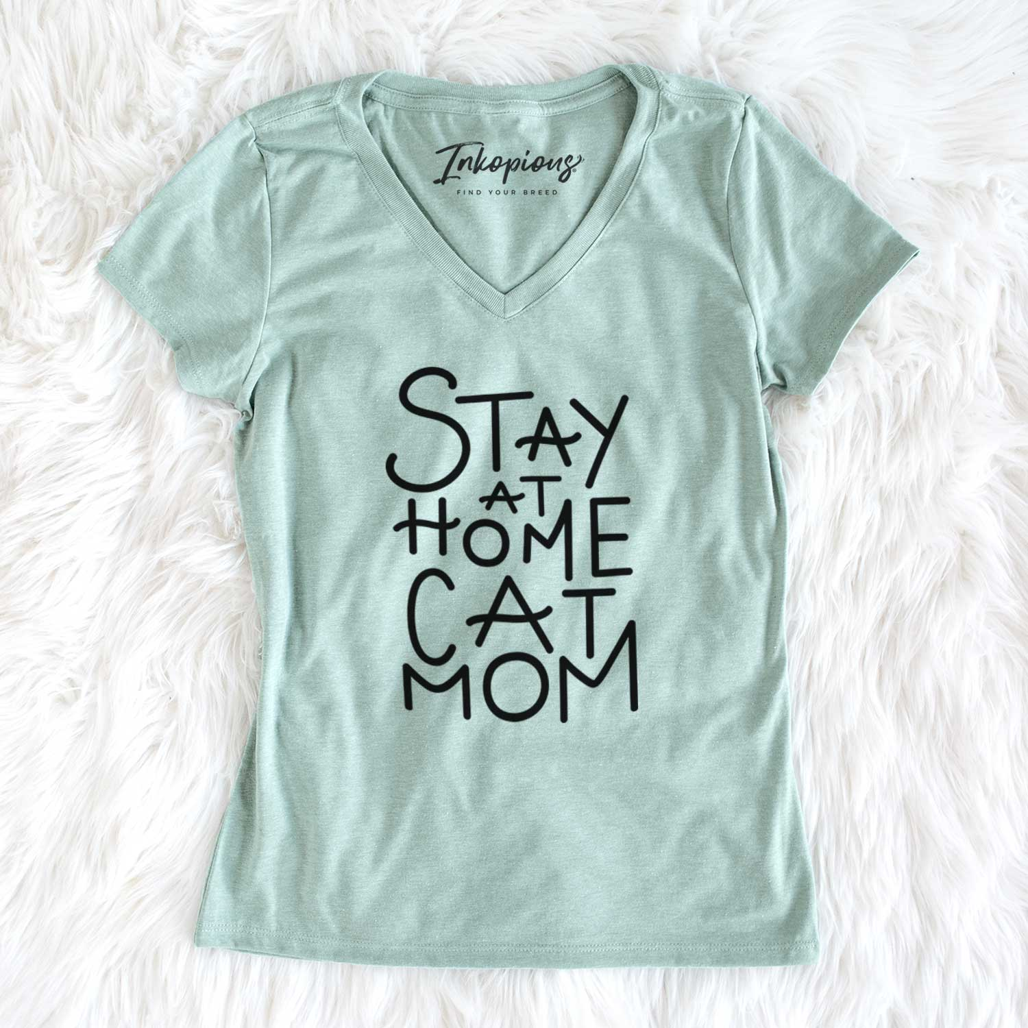 Stay at Home Cat Mom  - Women's Perfect V-neck Shirt