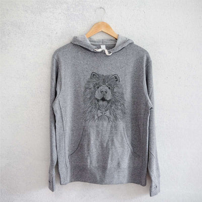 Charming Charlie the Chow Chow - Grey French Terry Hooded Sweatshirt