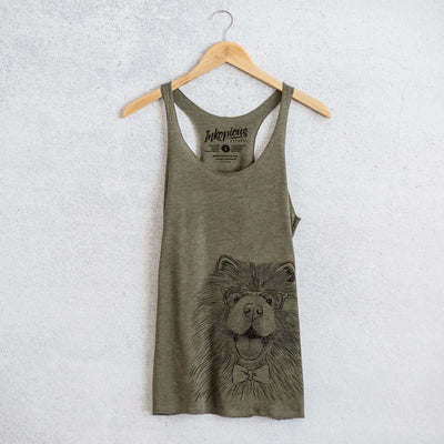 Charming Charlie the Chow Chow - Tri-Blend Racerback Tank Top