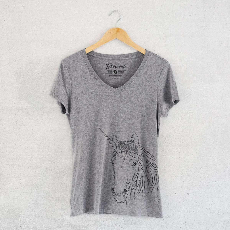 Cosmic Unicorn - Women's Modern Fit V-neck Shirt