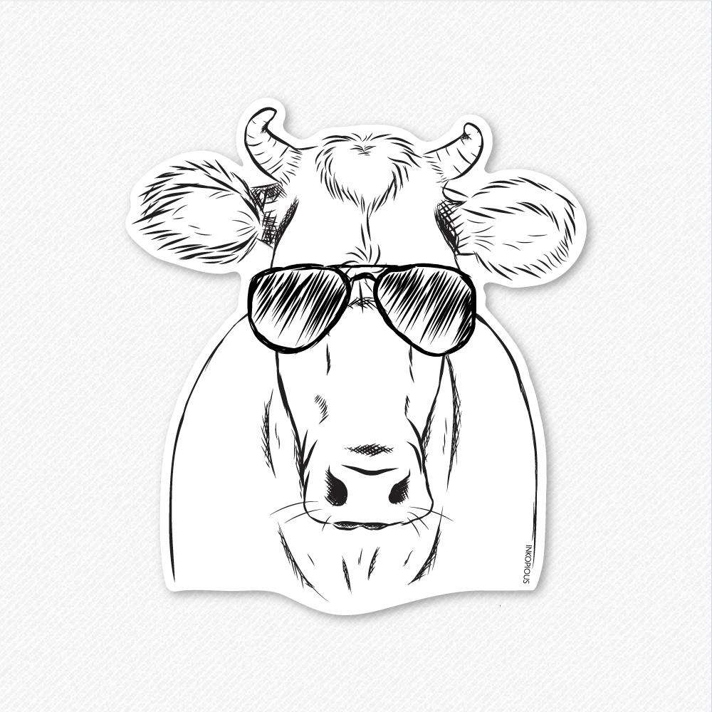 Cruz the Cow - Decal Sticker