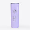 Doodled Amelia the Golden Retriever - 20oz Skinny Tumbler