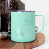 Doodled Bambi the Dachshund - 14oz Metal Mug