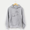Doodled Bambi the Dachshund - Unisex Hooded Sweatshirt