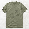Doodled Bambi the Dachshund - Unisex V-Neck Shirt