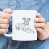 Doodled Bella the Pitbull - Mug