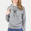 Doodled Benny the American Staffordshire Boxer Mix - French Terry Hooded Sweatshirt