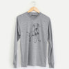 Doodled Carson the Mixed Breed - Long Sleeve Crewneck