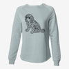 Doodled Coco the Cocker Spaniel - Cali Wave Crewneck Sweatshirt