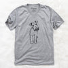 Doodled Colbi the Welsh Terrier - Unisex V-Neck Shirt