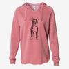 Doodled Cooper the Boston Terrier - Cali Wave Hooded Sweatshirt