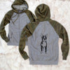 Doodled Cooper the Boston Terrier - Unisex Raglan Zip Up Hoodie