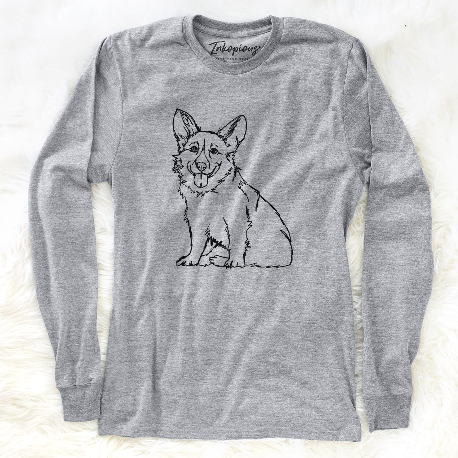 Doodled Corgi - Long Sleeve Crewneck
