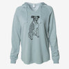 Doodled Dizzy the Boxer - Cali Wave Hooded Sweatshirt