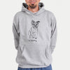 Doodled Elvin the Border Terrier - Unisex Hooded Sweatshirt