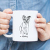 Doodled Elvin the Border Terrier - Mug