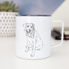 Doodled Faith the Labrador Retriever - 14oz Metal Mug