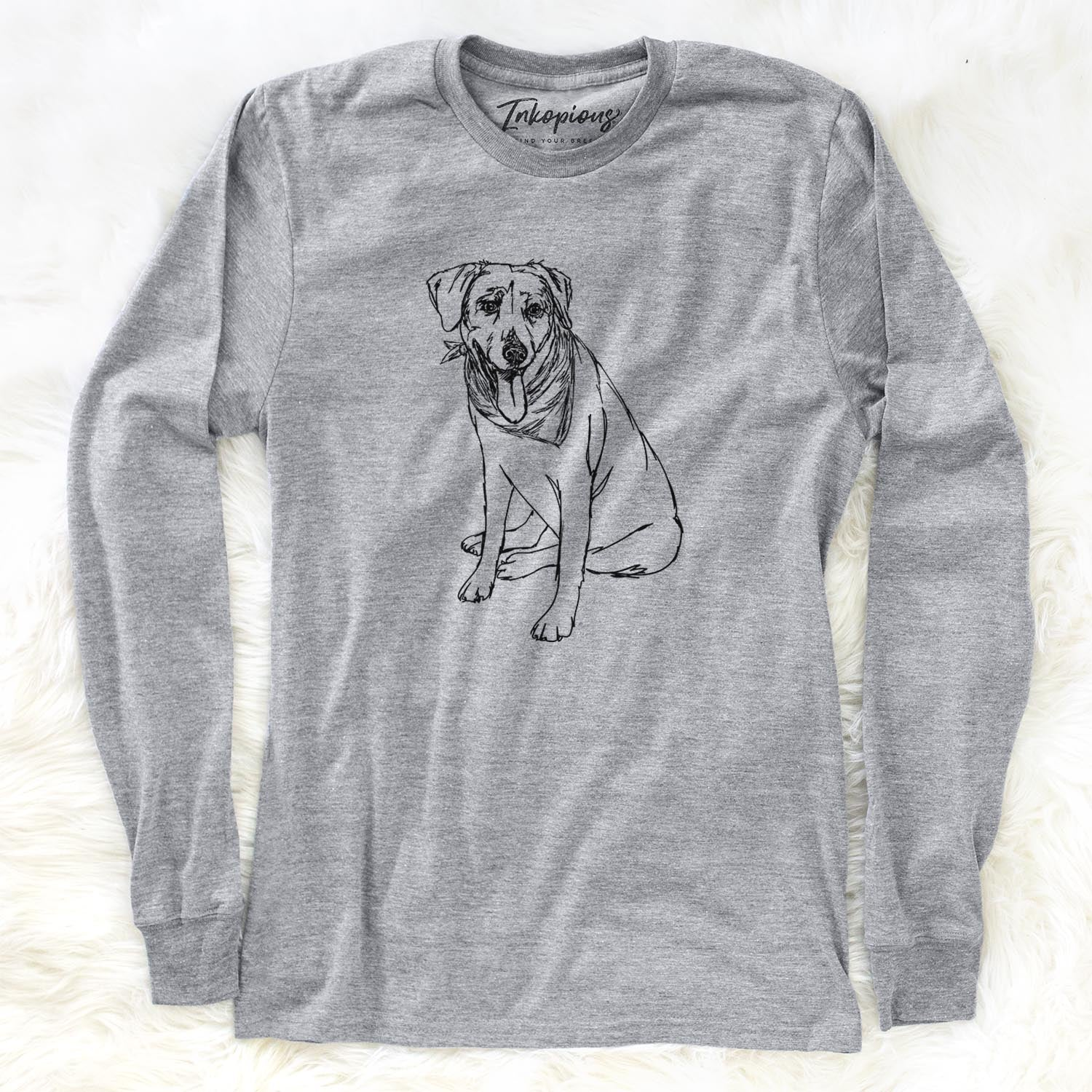 Doodled Faith the Labrador Retriever - Long Sleeve Crewneck