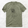 Doodled Faith the Labrador Retriever - Unisex V-Neck Shirt