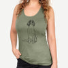 Doodled Fallon the Irish Red and White Setter - Racerback Tank Top