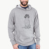 Doodled Fallon the Irish Red and White Setter - French Terry Hooded Sweatshirt