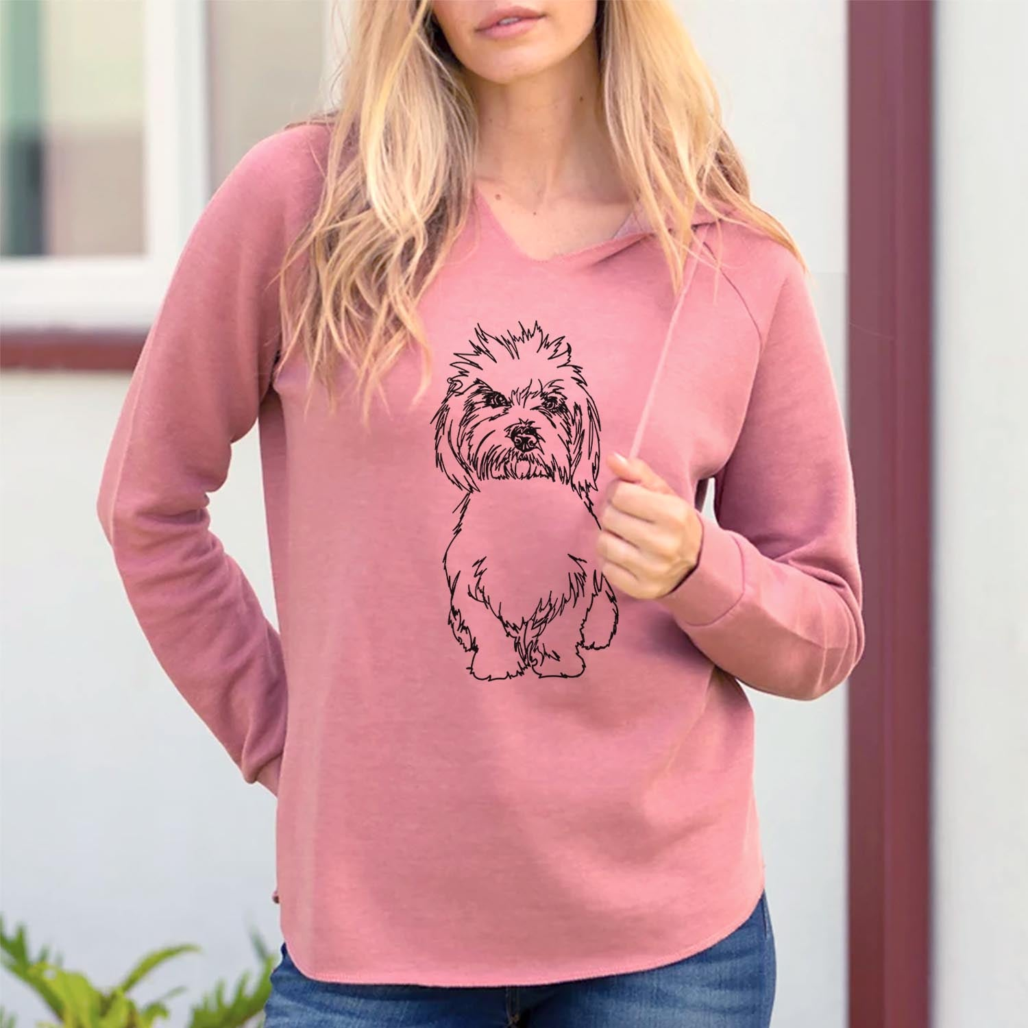 Doodled Fluffers the Coton de Tulear - Cali Wave Hooded Sweatshirt