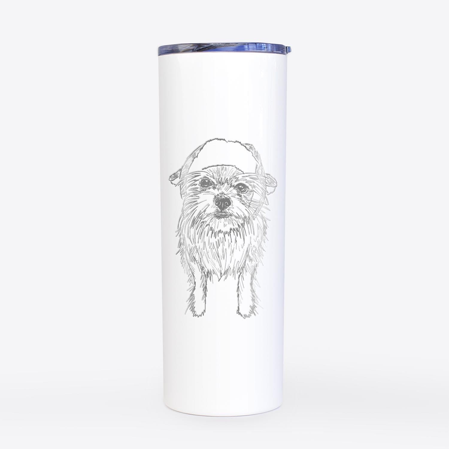 Doodled Gambit the Long Haired Chihuahua - 20oz Skinny Tumbler