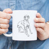 Doodled Gracie the Great Dane - Mug