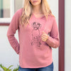 Doodled Harper the Mixed Breed - Cali Wave Hooded Sweatshirt