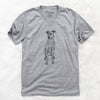 Doodled Jack the Catahoula - Unisex V-Neck Shirt