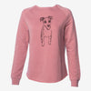 Doodled Jasper the Mixed Breed - Cali Wave Crewneck Sweatshirt